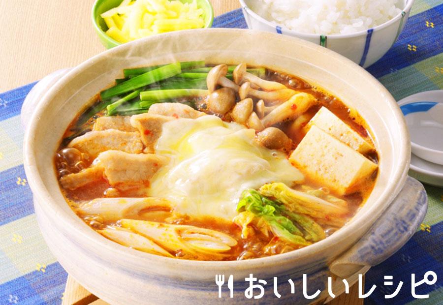 簡単一人鍋★キムチチーズ鍋