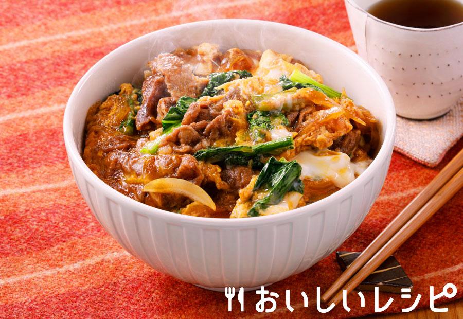 牛すき焼き卵とじ丼