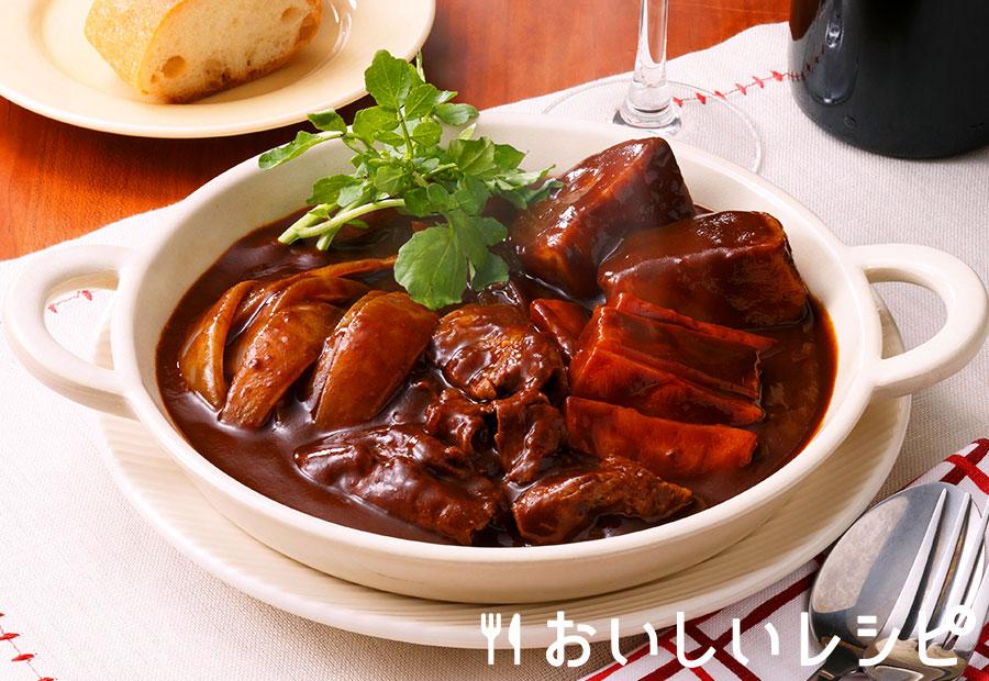 薄切り肉のビーフシチュー