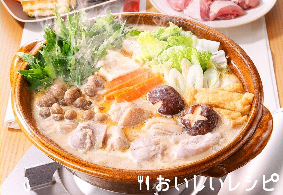 鶏肉の団らん豆乳ごま鍋