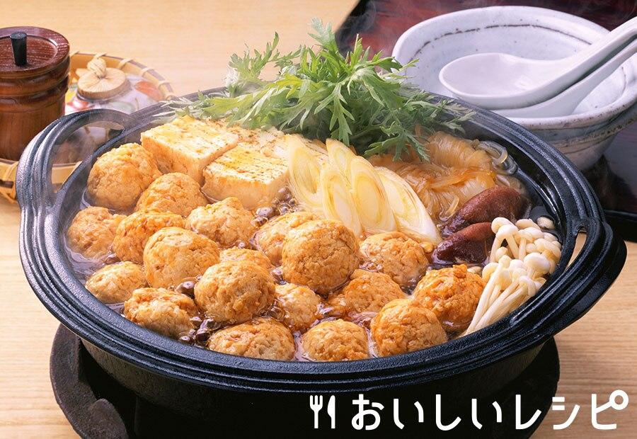 鶏だんごすき焼き