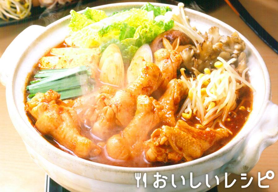鶏手羽元のキムチ鍋