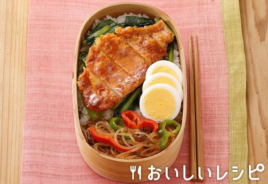 たれプラ弁当 豚のピリ辛焼き