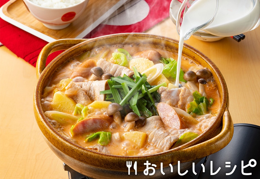 ミルクじゃがいもキムチ鍋(プチッと鍋)