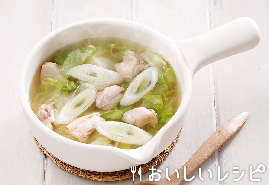 myおかずスープ  鶏ももとレタス