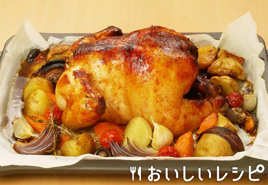 丸鶏のロティサリーチキン風