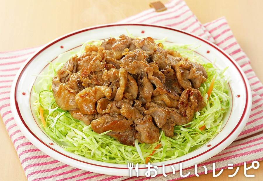 豚こま生姜焼き