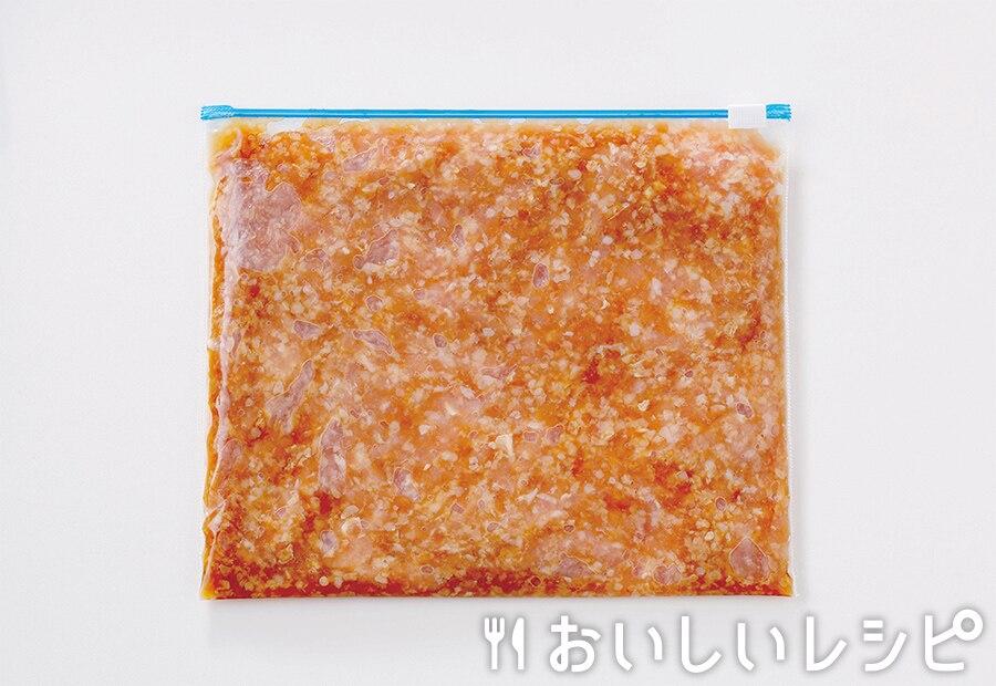 下味冷凍肉(挽き肉とキャベツの炒めもの用)