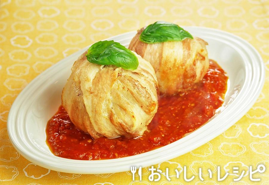 まるごとトマトのチーズ肉巻き