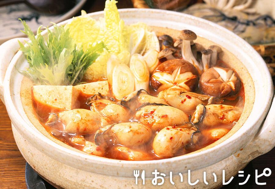 かきのキムチ鍋