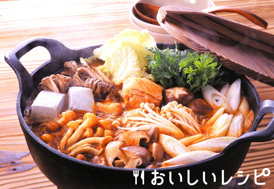 きのこづくしのキムチ鍋