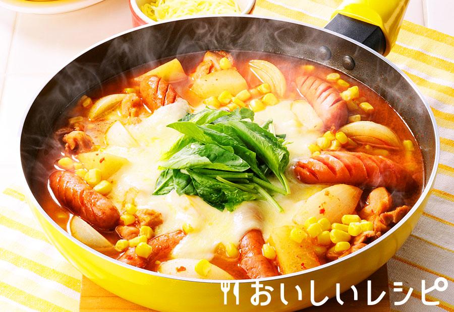 フライパンでキムチチーズ鍋