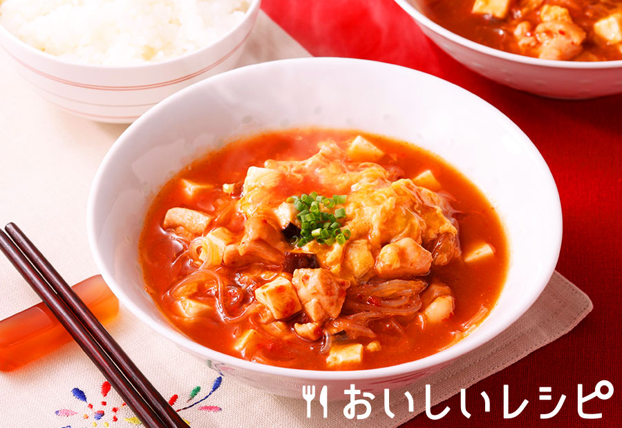 サンラータン風キムチスープ
