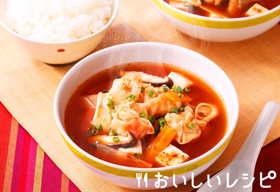 しゅうまい入りキムチスープ