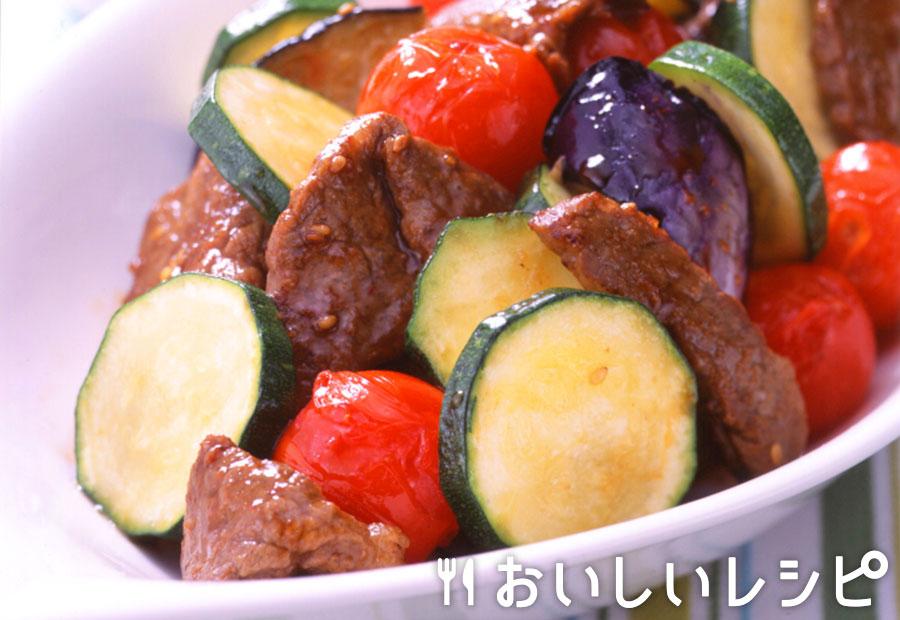 ズッキーニとお肉の炒め物