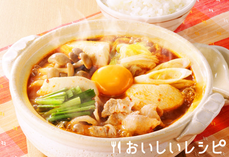 簡単一人鍋★スンドゥブ風キムチ鍋