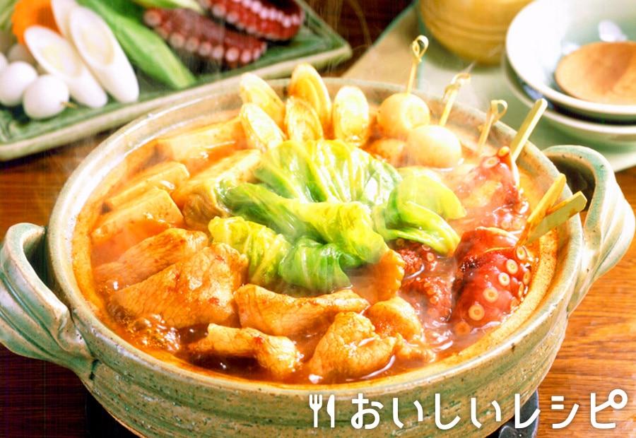 たこ豚キャベツのキムチ鍋