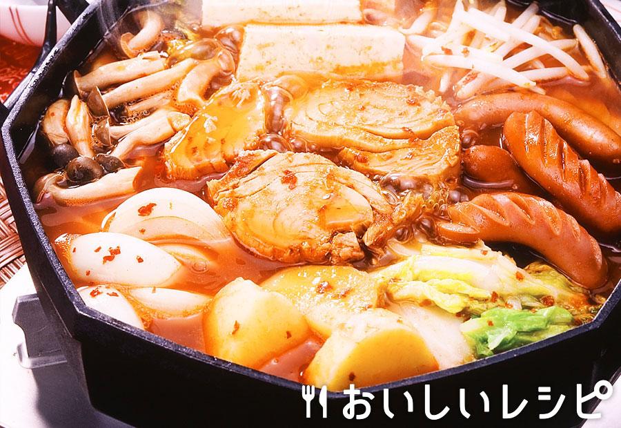 ツナのキムチ鍋(プデチゲ風)