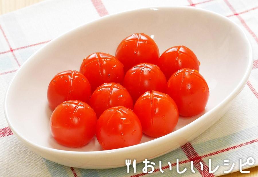 簡単!ミニトマトの浅漬け (隠し包丁編)