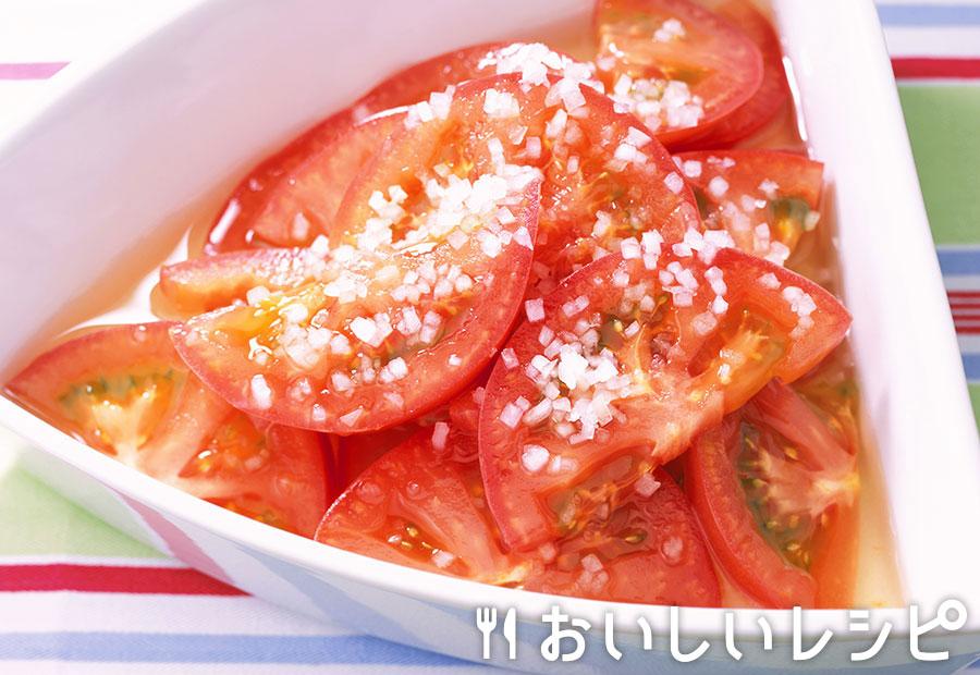 トマトの甘酢漬けマリネ風