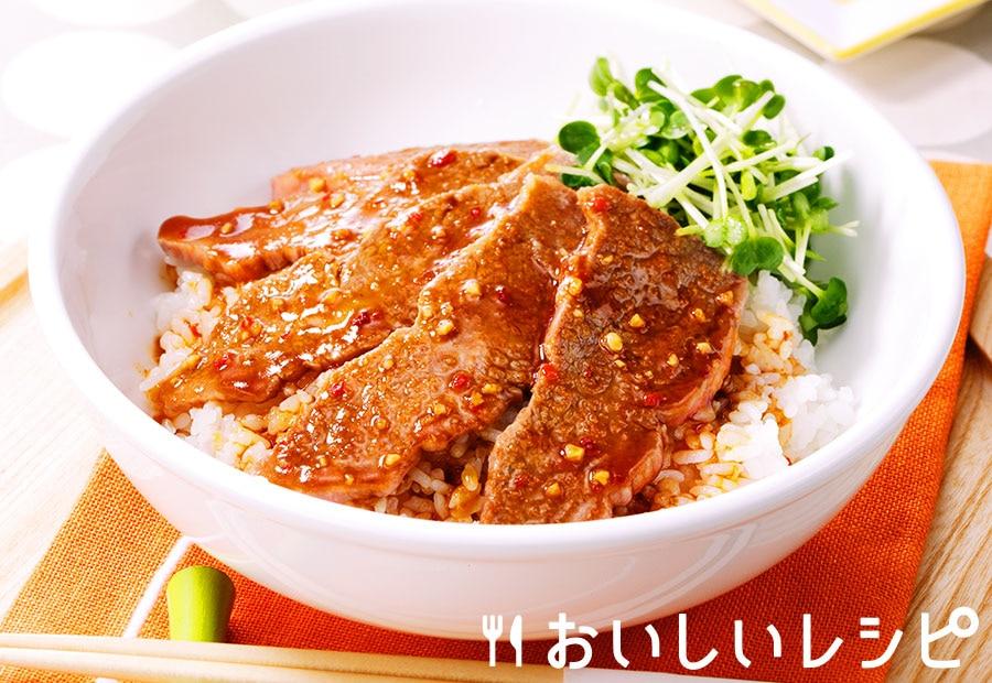 にんにく風味の焼肉丼