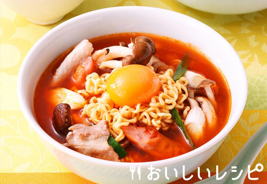 プデチゲ風キムチスープ