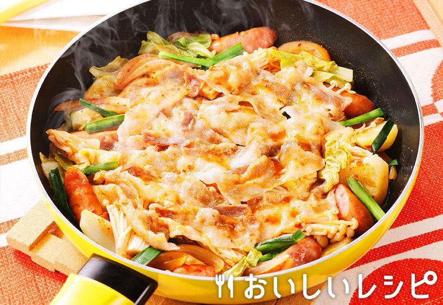 フライパン蒸し鍋 ~キムチ鍋の素~
