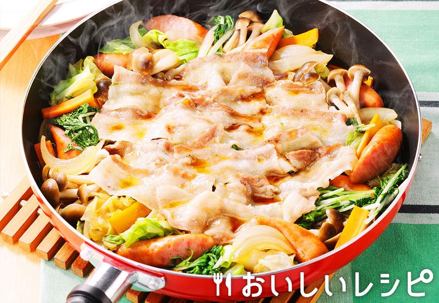 フライパン蒸し鍋 ~すき焼のたれ~