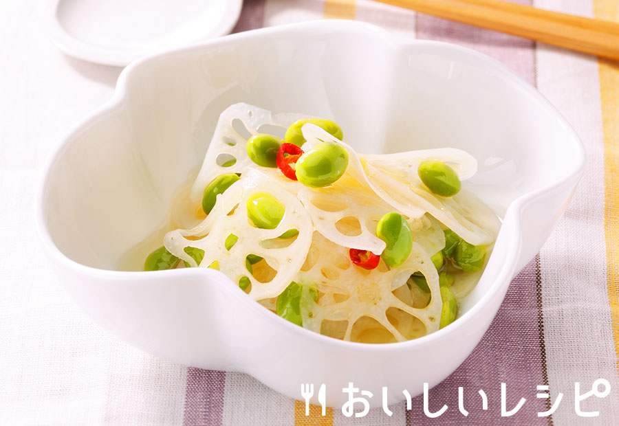 れんこんの甘酢漬け(酢ばす)