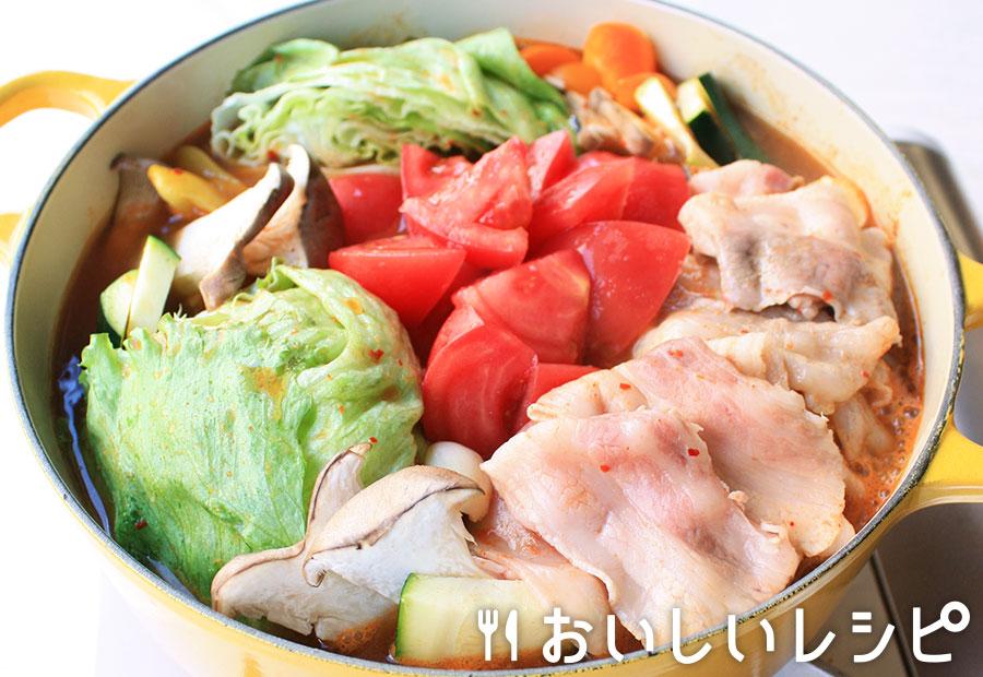 丸ごとレタスのスタミナキムチ鍋