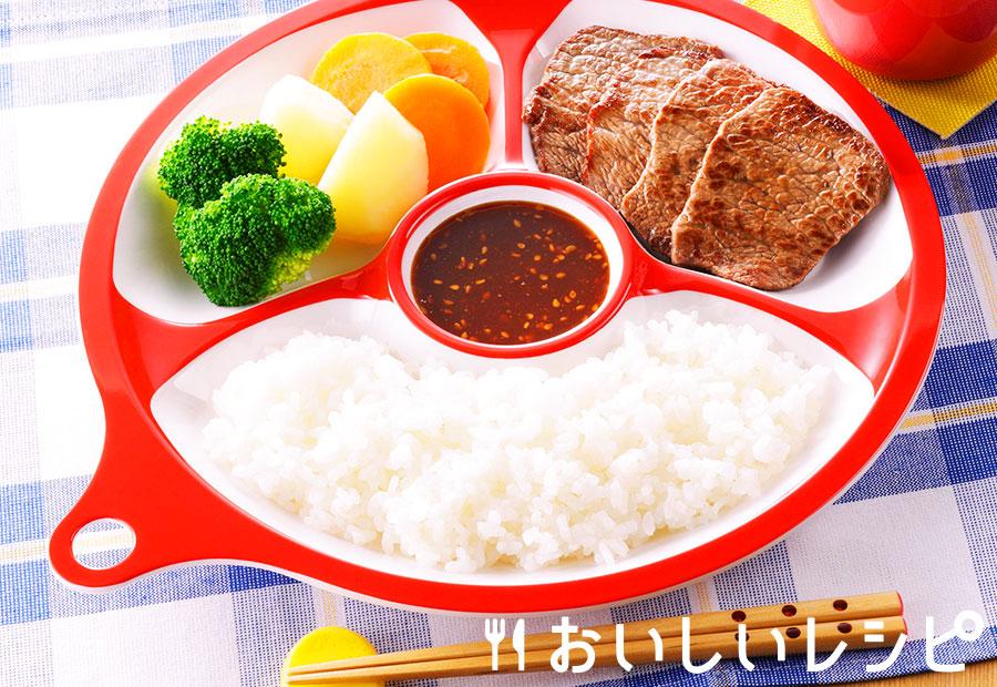 牛焼肉用肉で!朝焼き定食