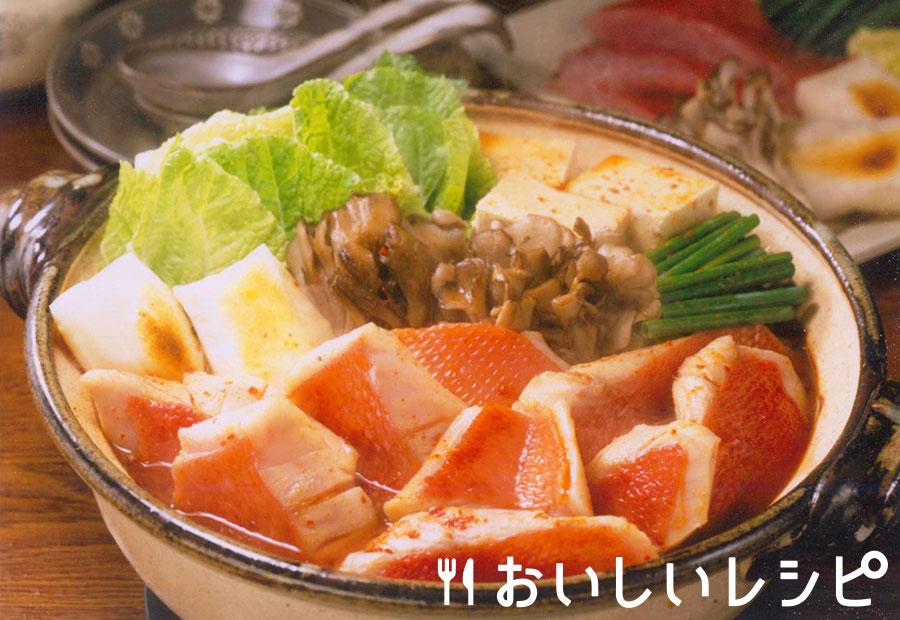 金目鯛のキムチ鍋