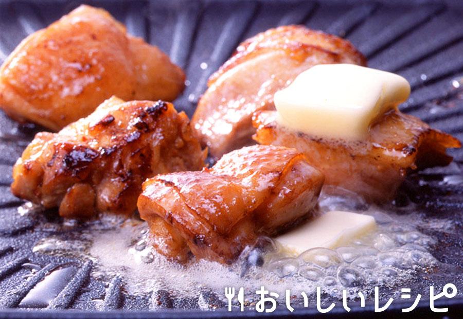 鶏もも肉のにんにくバター焼き