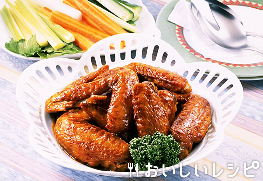 鶏手羽先のカレー醤油風味