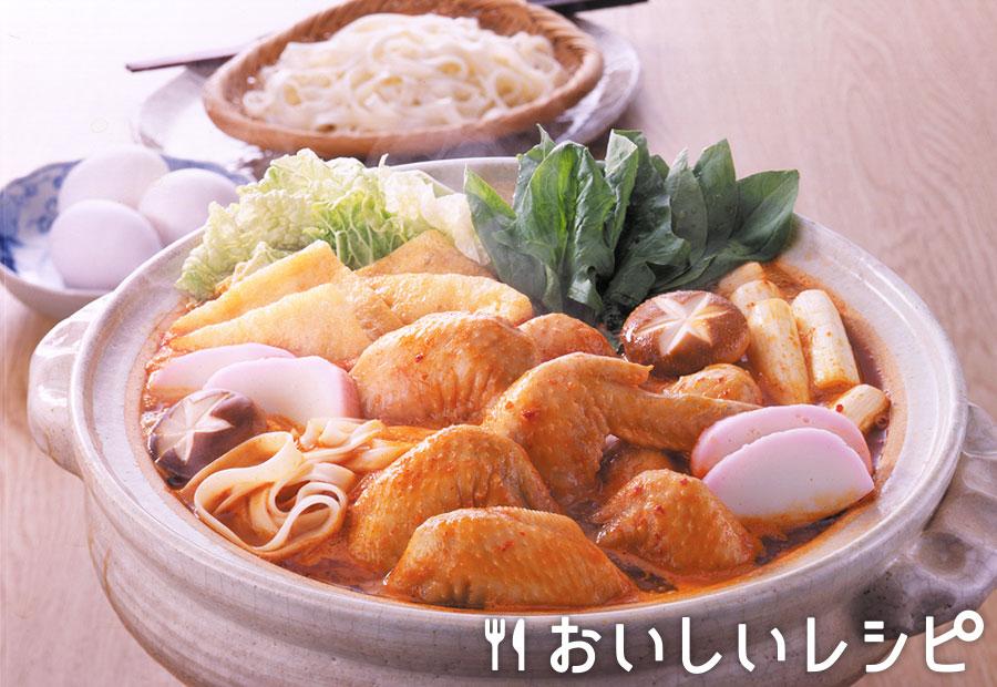 鶏手羽先のキムチ鍋