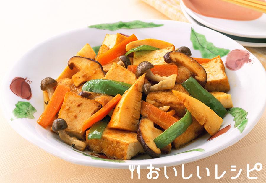 厚揚げと野菜の炒め物
