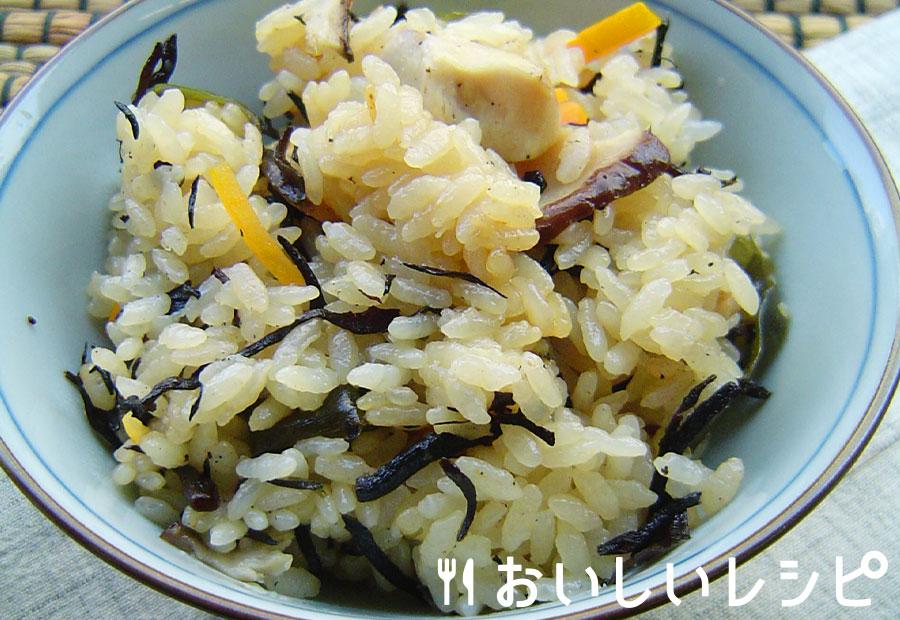 黒の炊き込みご飯
