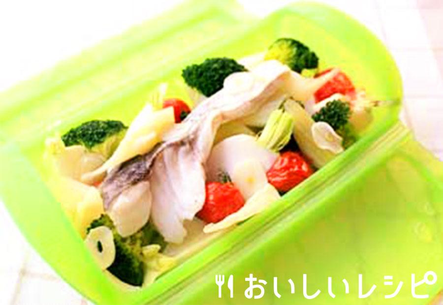彩り野菜と白身魚の洋風蒸し