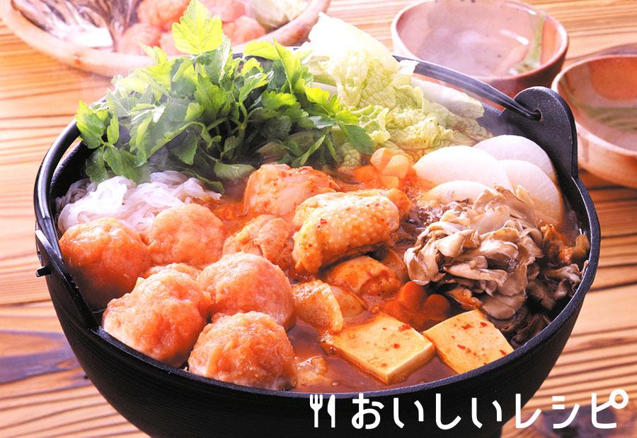 鮭団子の三陸キムチ鍋