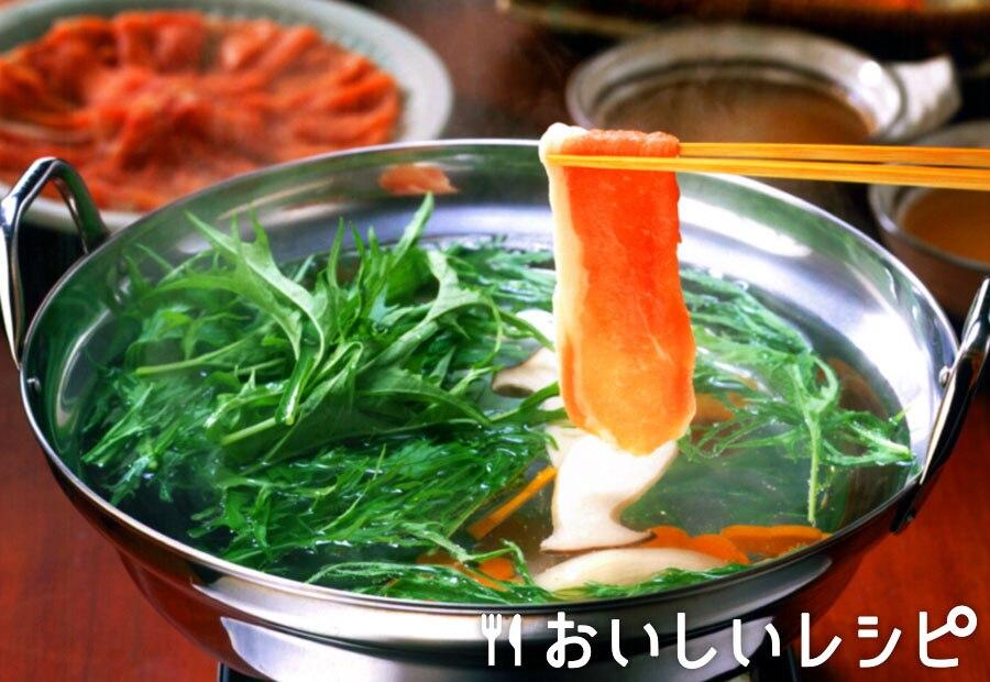 水菜とエリンギの豚しゃぶ