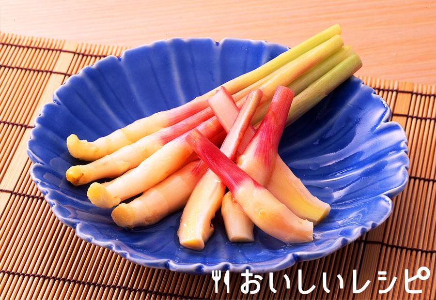葉生姜の甘酢漬け
