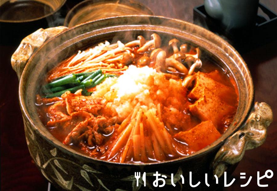 大根と豚肉のおろしキムチ鍋