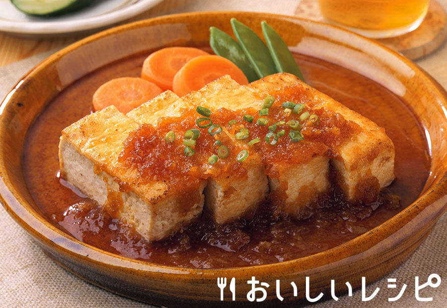 さっぱり豆腐ステーキ