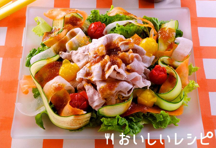 豚しゃぶお花畑サラダ