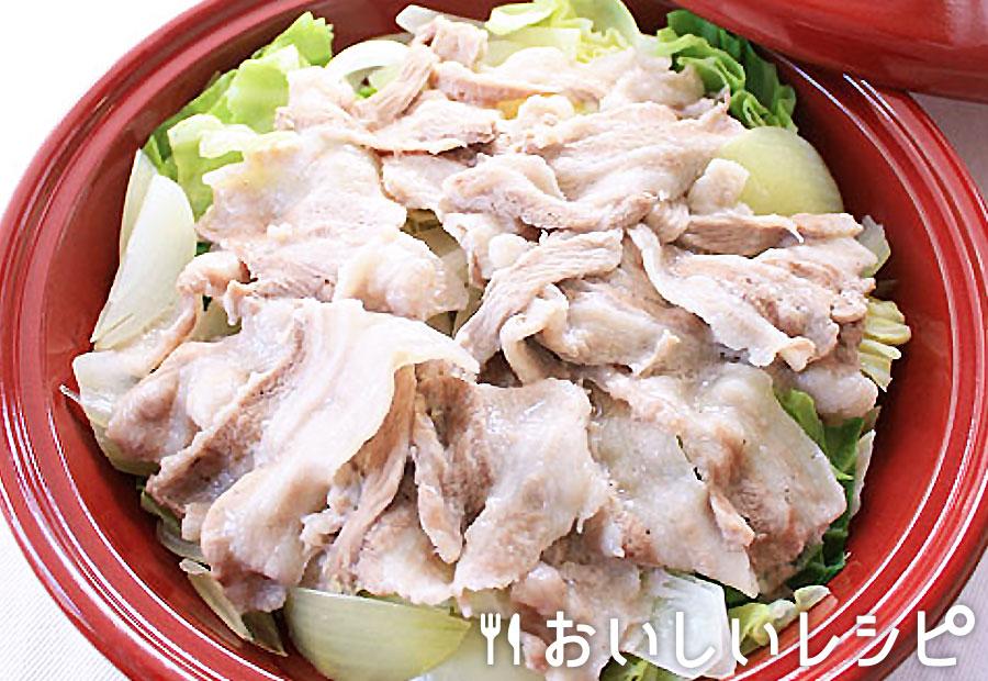 豚肉とキャベツのタジン蒸し