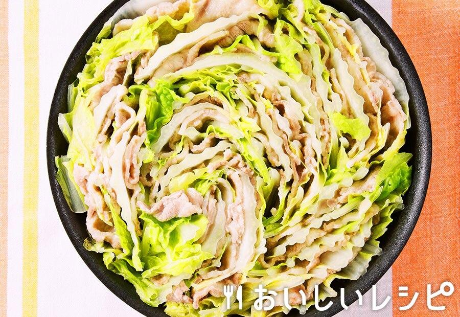 豚肉と白菜のフライパン重ね蒸し
