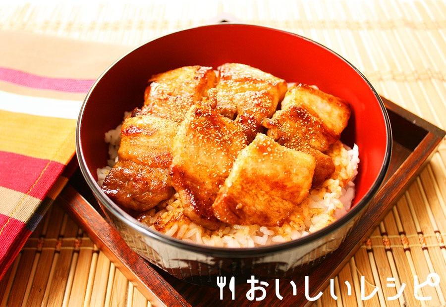 豚肉の蒲焼き丼
