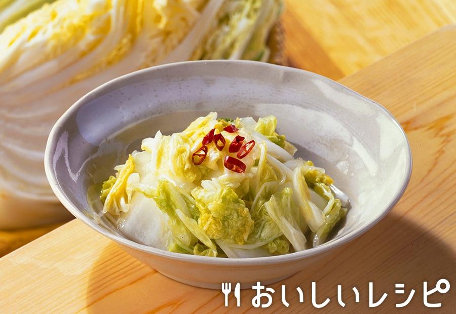 白菜のじっくり漬け