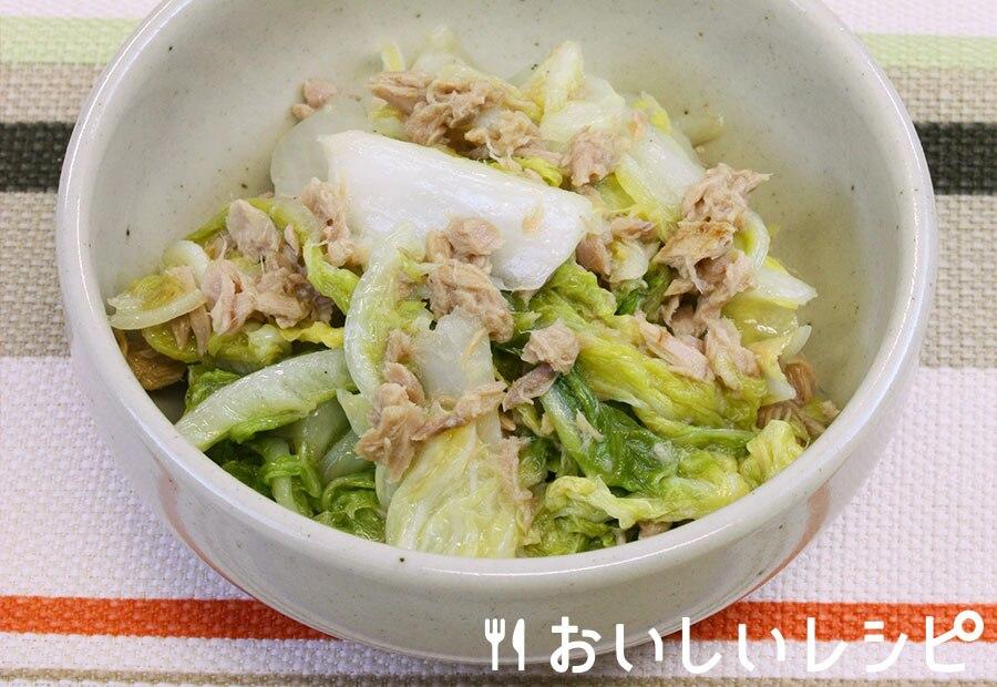 白菜漬けとツナのさっと煮