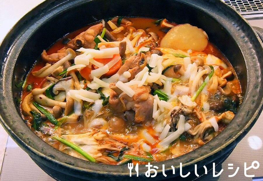 根菜キムチーズ鍋
